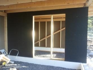 Saunatuvan ovi ja ikkuna